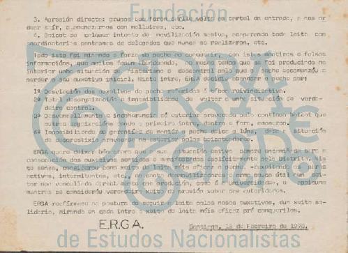 Comunicado de ERGA
