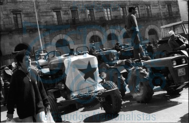 Tractorada das CCLL-SLG en Compostela contra a cota do leite # 09