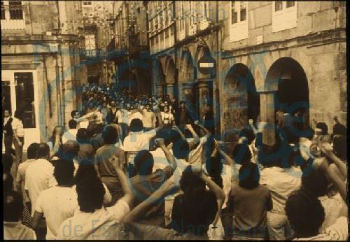 Manifestación na Praza do Toural de Compostela